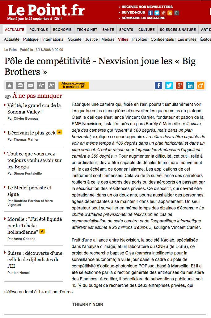 Nexvision jour les big brother