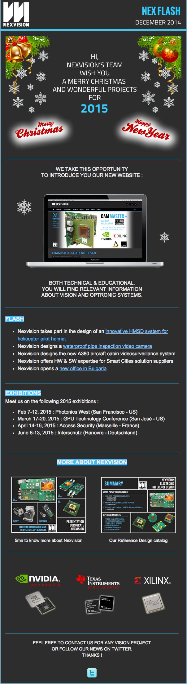 Nexvision's newsletter december 2014