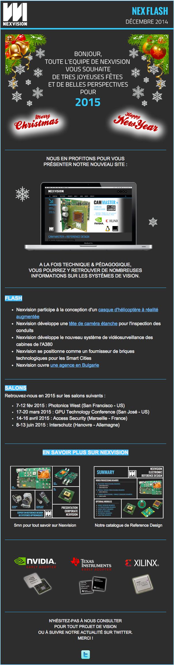 Newsletter Nexvision décembre 2014